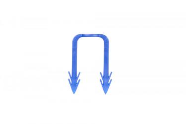 W983Y040CZ - modrá spona 40 mm vysoká, určená pro izolace o minimální výšce 20 mm, pro trubky do ø20 mm